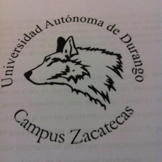Photo taken at Universidad Autónoma de Durango Campus Zacatecas by Bryam M. on 11/23/2012