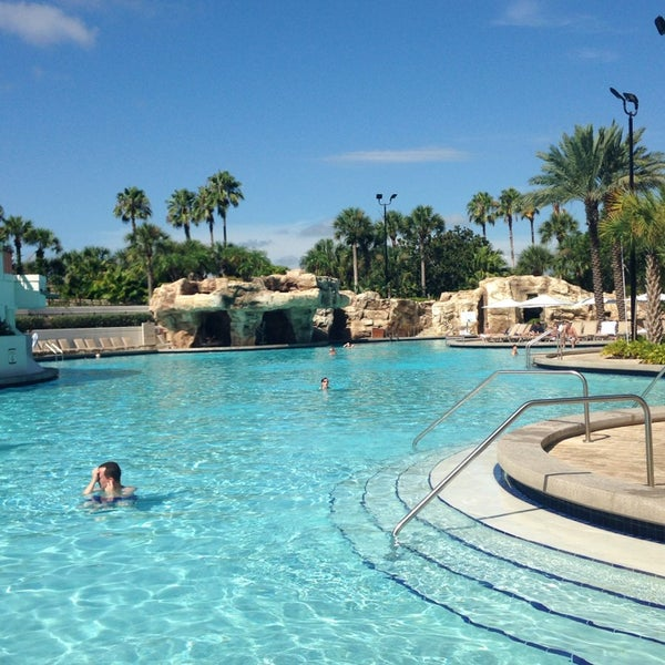 Photo taken at Marriott World Center Pool by Christina F. on 8/8/2014