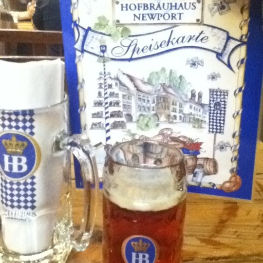 Photo taken at Hofbräuhaus Newport by Kcorb N. on 4/25/2012