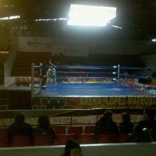 Photo taken at Arena Adolfo Lopez Mateos by Marco Aurelio G. on 3/12/2012