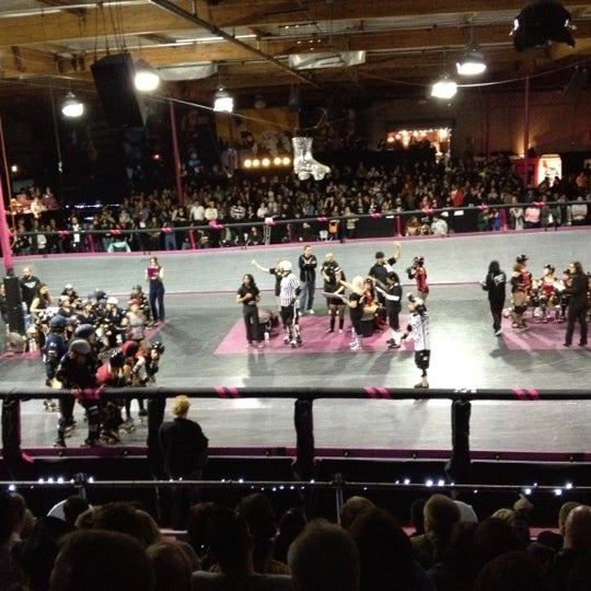 Photo taken at Doll Factory (L.A. Derby Dolls) by Joe D. on 4/15/2012