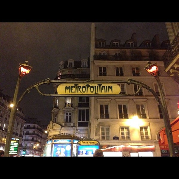 Photo taken at Métro Étienne Marcel [4] by Stephanie A. on 11/28/2012