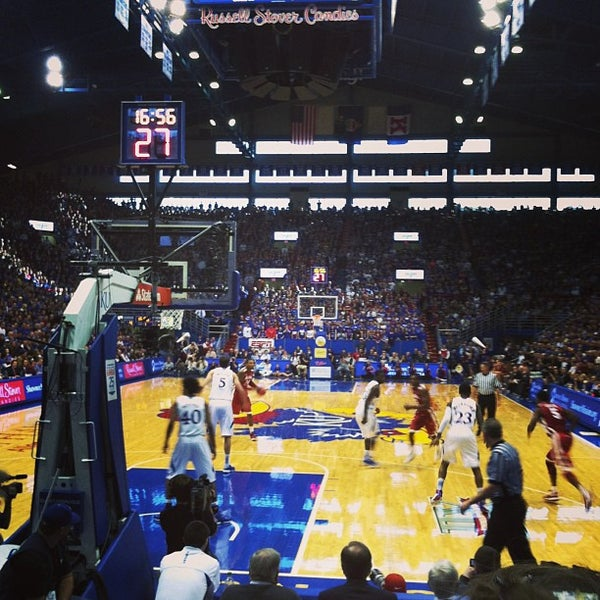Photo taken at Allen Fieldhouse by Corey T. on 1/26/2013