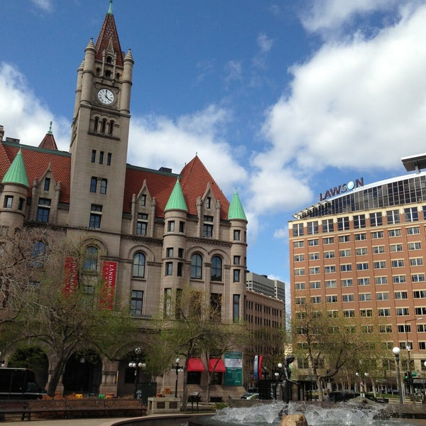 Photo taken at Rice Park by Heidi R. on 5/11/2013