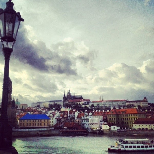 Photo taken at Karlův most | Charles Bridge by Alexandros M. on 3/16/2014