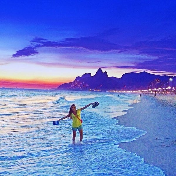 Photo taken at Praia de Ipanema by Laís F. on 3/14/2014