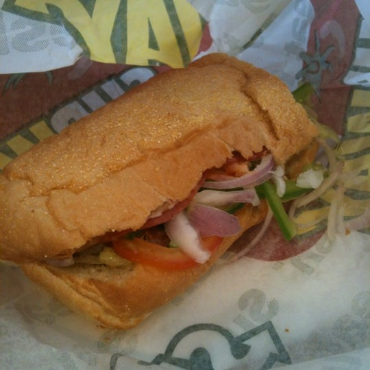 Photo taken at Subway by suzy r. on 10/22/2012