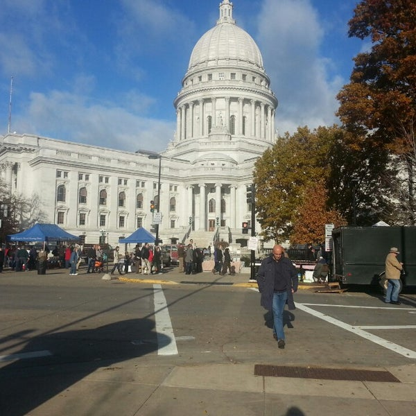 Photo taken at Dane County Farmers' Market by Arland W. on 11/9/2013