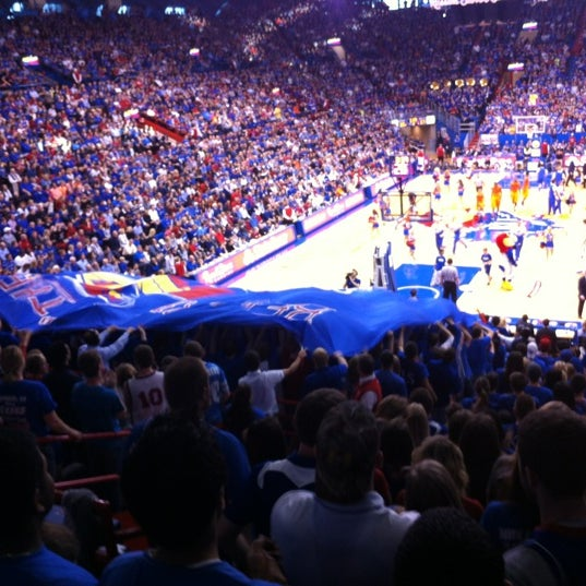 Photo taken at Allen Fieldhouse by Rachel H. on 2/3/2013