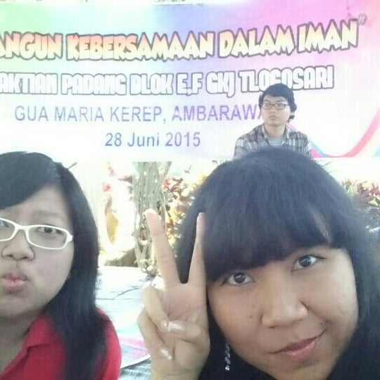 Photo taken at Gua Maria Kerep by glory a. on 6/28/2015