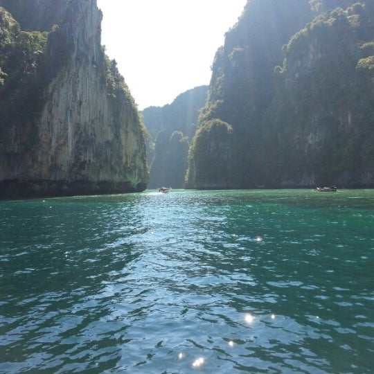 Photo taken at Phi Phi Island by Huseyin F. on 12/16/2012