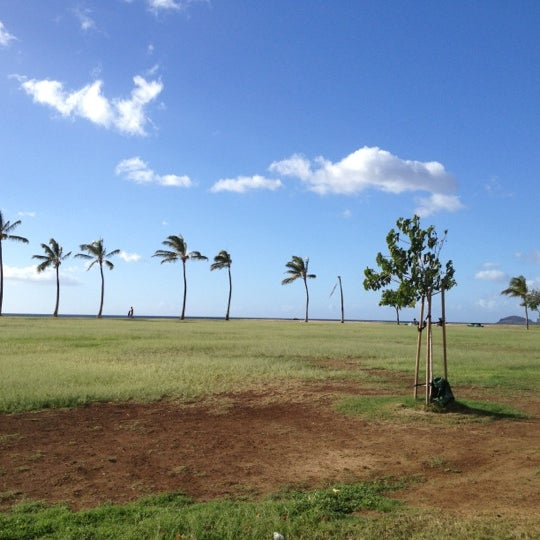 Photo taken at Maili Beach by Sualata S. on 12/13/2012