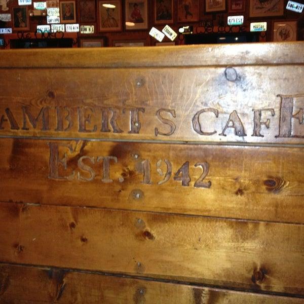 Photo taken at Lambert's Cafe by Sarah B. on 4/5/2013