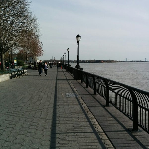 Photo taken at Battery Park City Esplanade by Georgy G. on 4/19/2014
