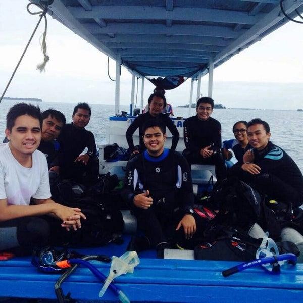 Photo taken at Pulau Pramuka by Nadea N. on 12/27/2014