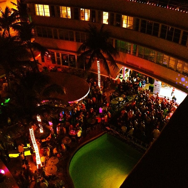 Photo taken at Clevelander South Beach Hotel and Bar by Matt A. on 1/8/2013