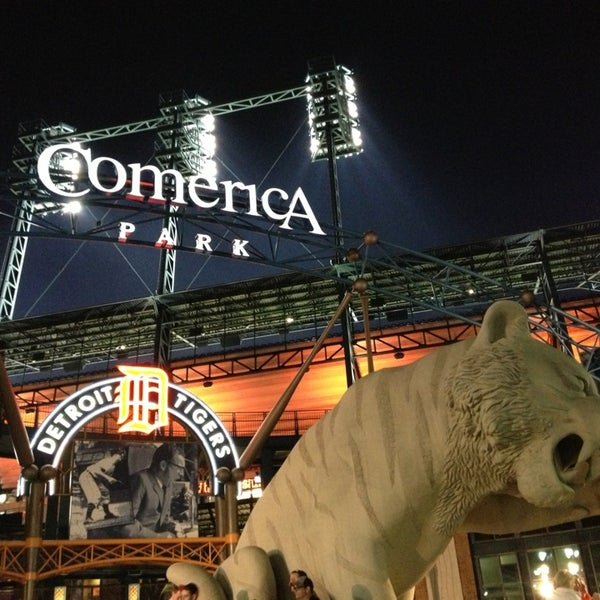 Photo taken at Comerica Park by Madeline H. on 5/16/2013