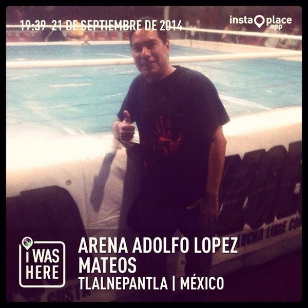 Photo taken at Arena Adolfo Lopez Mateos by Crixus W. on 9/22/2014
