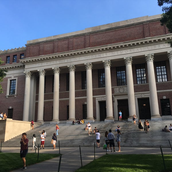 Photo taken at Widener Library by Achim H. on 7/7/2016