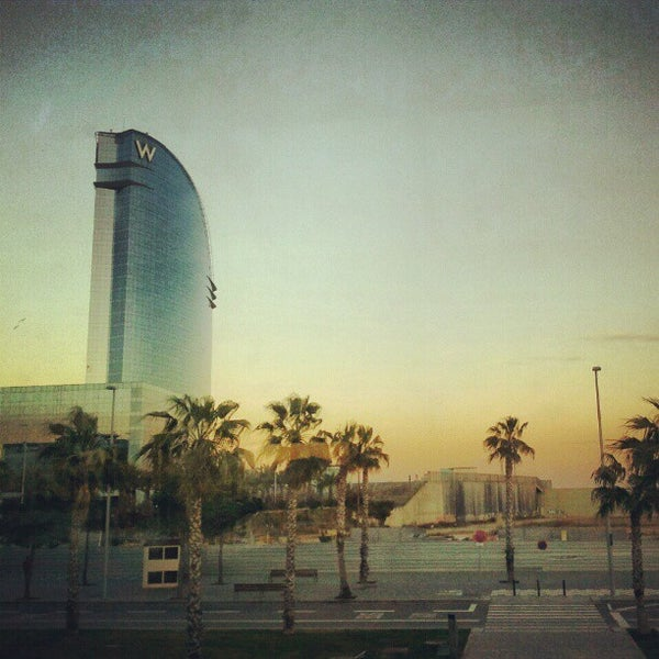 Photo taken at W Barcelona by Carlos G. on 2/4/2013