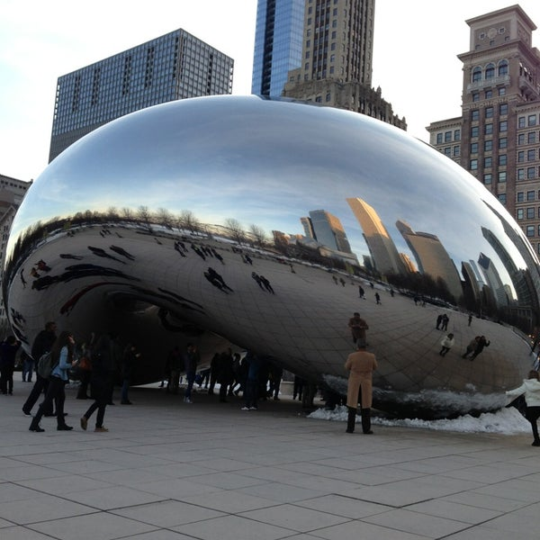 Photo taken at Cloud Gate by Holly W. on 3/8/2013