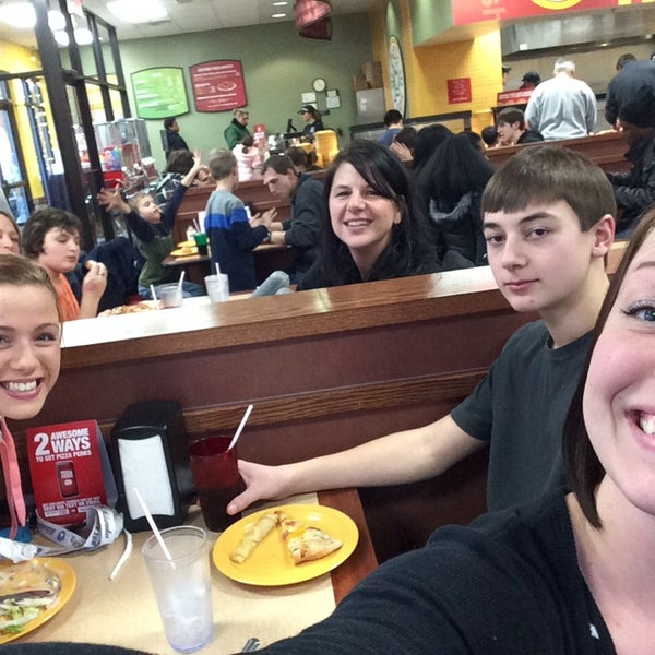 Photo taken at Cicis by katie d. on 1/11/2014