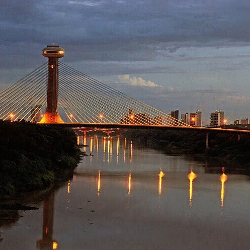 Photo taken at Ponte Estaiada by Marcos S. on 3/1/2013