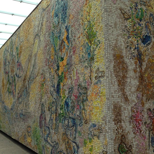 """Photo taken at Chagall Mosaic, """"The Four Seasons"""" by Margie H. on 4/28/2013"""
