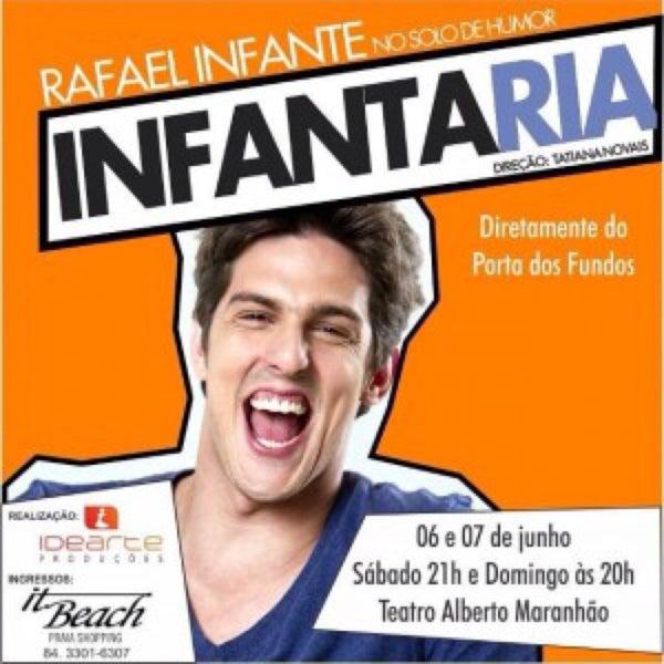 Photo taken at Teatro Alberto Maranhão by Ramon A. on 7/13/2015