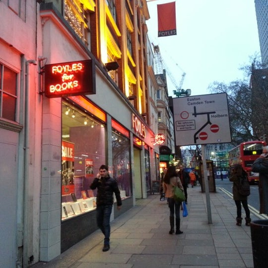 Photo taken at Foyles by Tom F. on 1/5/2013