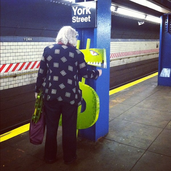 Photo taken at MTA Subway - York St (F) by lauryn on 11/16/2012