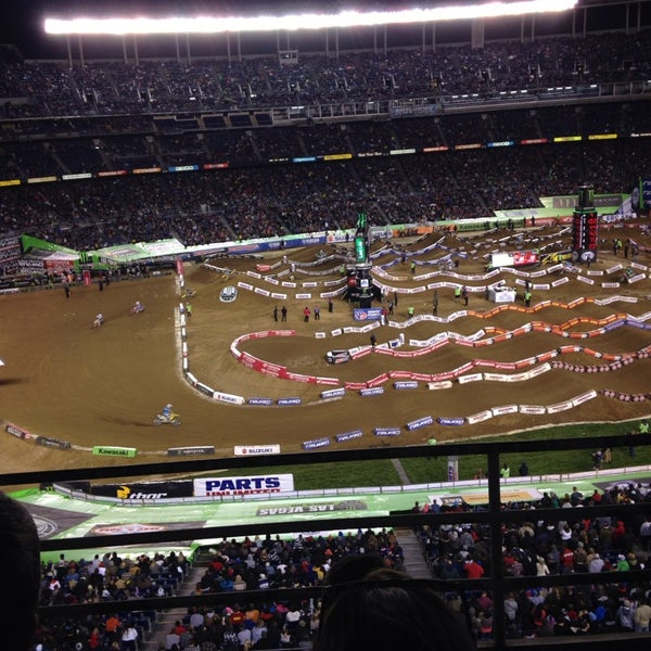 Photo taken at Qualcomm Stadium by Kari S. on 2/9/2014