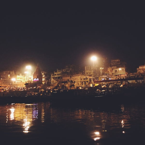 Photo taken at Dasaswamedh Ghat by Marcela O. on 1/29/2015