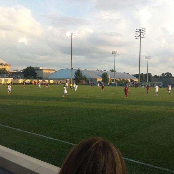 Photo taken at Dick Dlesk Soccer Stadium by Nikki L. on 9/4/2014