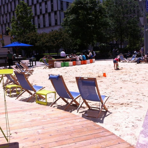 Photo taken at Campus Martius Park by Lyndsay C. on 7/2/2013