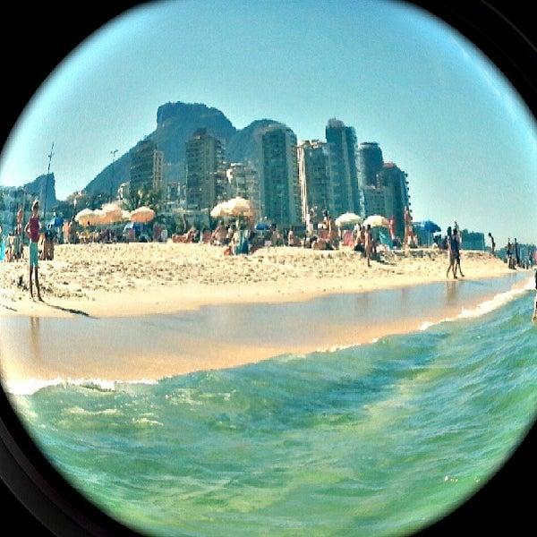 Photo taken at Praia da Barra da Tijuca by Jessica M. on 7/19/2013