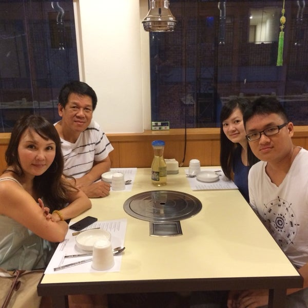 Family dinner all the way from Singapore.