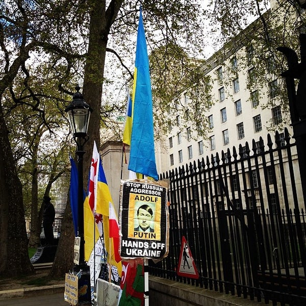 Photo taken at 10 Downing St. by Azat Y. on 4/19/2014