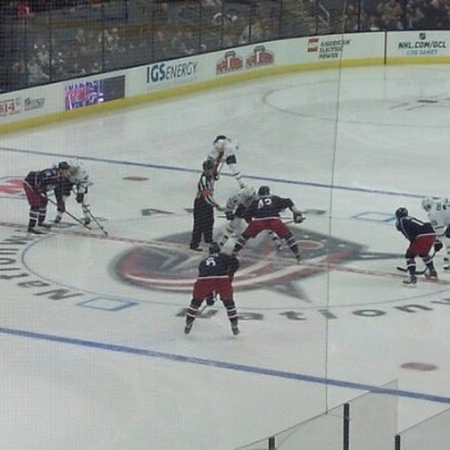 Photo taken at Nationwide Arena by Tricia L. on 1/29/2013
