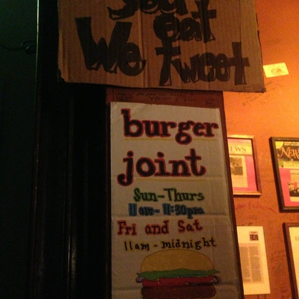 Photo taken at Burger Joint by Liva on 7/10/2013