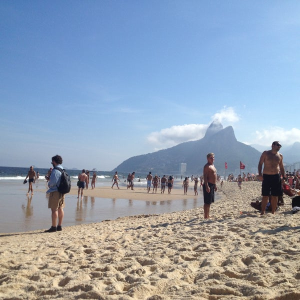 Photo taken at Praia de Ipanema by Camilla O. on 5/1/2013