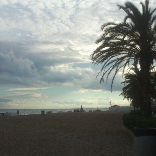 Photo taken at Platja de Calafell by Sara M. on 6/9/2013