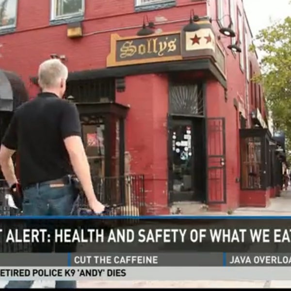 Inspectors cited Solly's U Street Tavern for 9 violations including no adequate hot water - when  @wusa9 tested it exceeded 110 degree minimum. @wusa9 Passed reinspection.  Reopened.