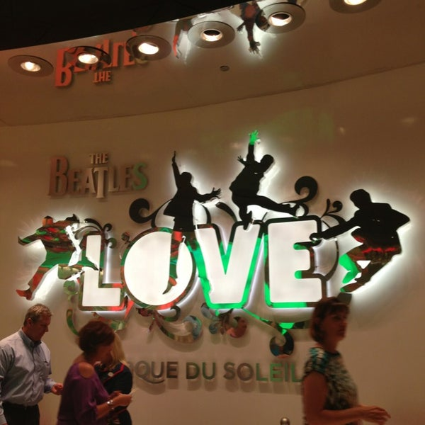 Photo taken at The Beatles LOVE (Cirque Du Soleil) by DanieLa W. on 6/28/2013