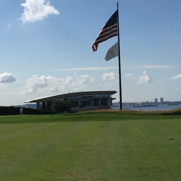 Photo taken at Liberty National Golf Course by Josh G. on 7/10/2016