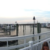 Photo taken at Marina Deck Resturant by Lea W. on 8/31/2013