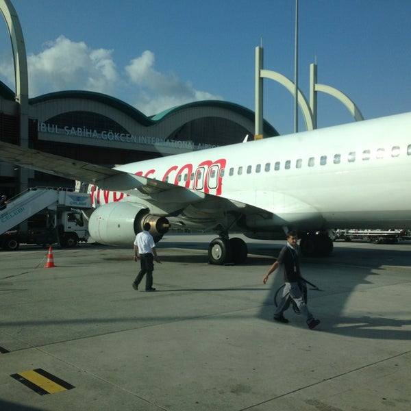 Photo taken at Sabiha Gökçen International Airport (SAW) by Sait Ö. on 7/15/2013