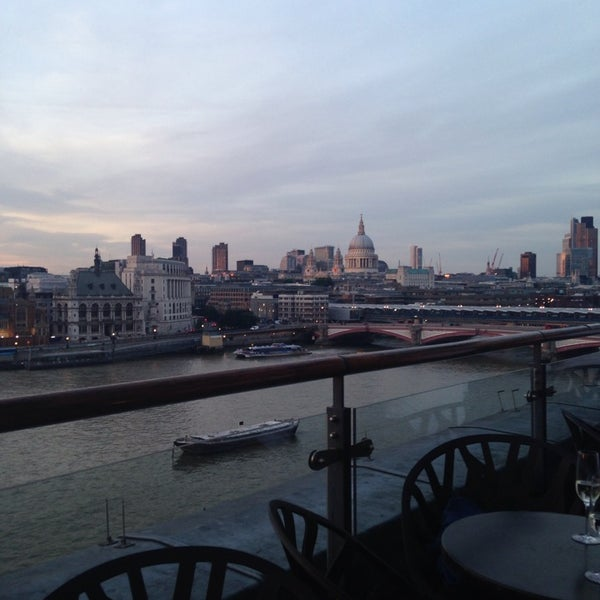 Photo taken at OXO Tower Brasserie by Aristotelis R. on 7/15/2013