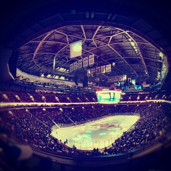 Photo taken at Rogers Arena by Shelley C. on 1/21/2013