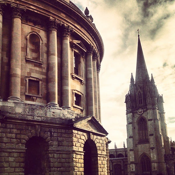 Photo taken at Radcliffe Camera by George B. on 12/24/2014